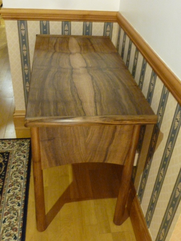 Hall table in Native Walnut