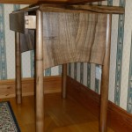 Native Walnut Hall table, drawer sides in Sycamore