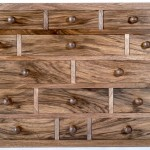Miniature chest of drawers Walnut