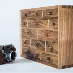Miniature chest of drawers in Walnut