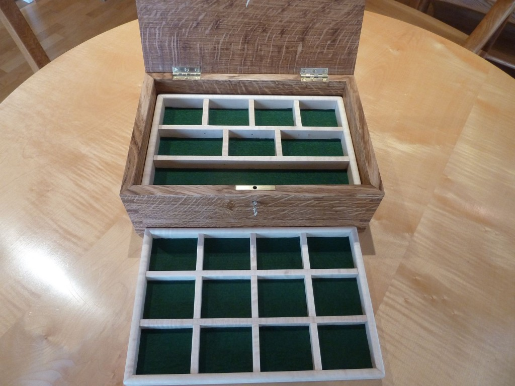 Jewellery Box Middle Sycamore tray.