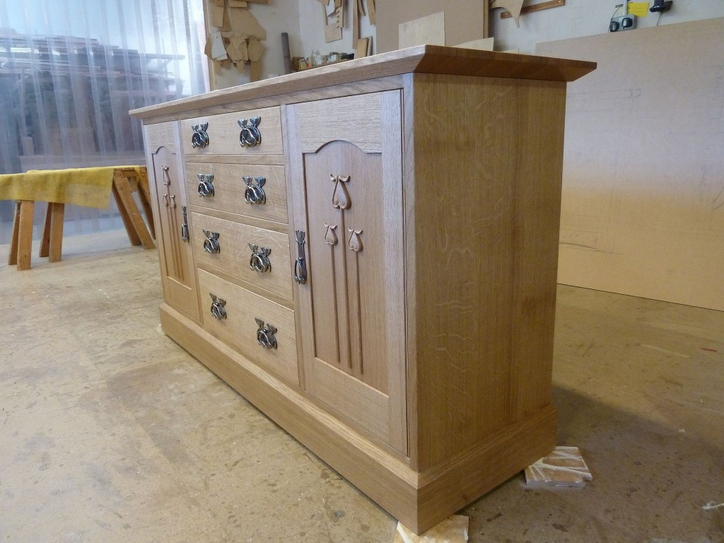 Oak sideboard finished ready for delivery