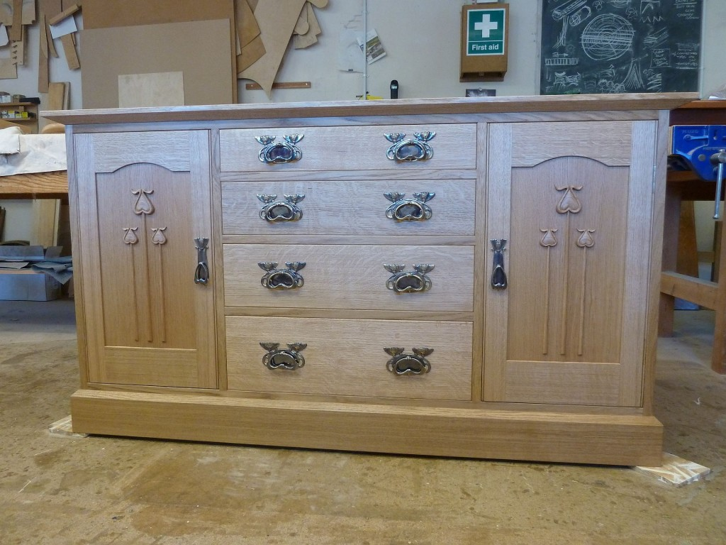 Oak sideboard Arts and Crafts style