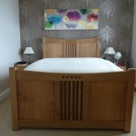 Oak double bed frame,delivered,assembled,and ready for the land of nod!