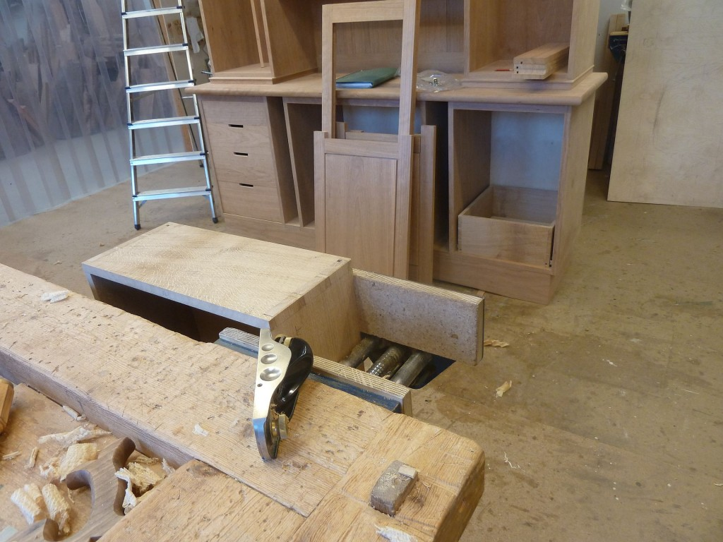 Drawers in position and door frames together.