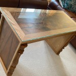 New 'upcycled' table made from the panels of an old Harmoniun, the frame work is in Oak.