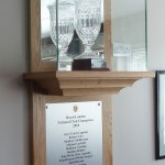 Purpose made cabinet to house a rather nice crystal glass winners trophy.
