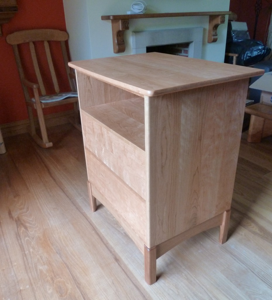 CD storage cabinet in American Cherry.