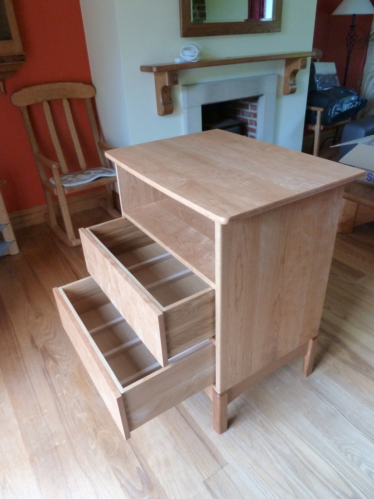 CD storage cabinet in American Cherry