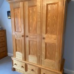 Refurbished solid native ash wardrobe I made back in 1991!